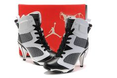 4ee31b0f50a 2011 New Air Jordans High Heels Shoes Black-White - Nike High Heels Air  Jordan Shoes