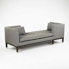 Attirant Edward Wormley Tete A Tete Chaise/Sofa