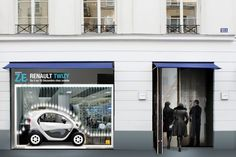 Renault Twizy says hello to Paris in Colette store window