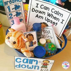 Calm Down Techniques will help you teach your students strategies to calm down when they are upset. It includes a class read aloud, calm down posters, calm down cards, yoga cards, deep breaths visual, book list, positive not