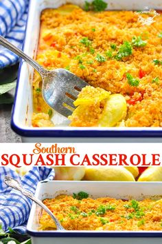 A classic Southern Squash Casserole is the perfect vegetable side dish recipe! A delicious summer side dish the whole family will love. Side Dishes Easy, Vegetable Side Dishes, Side Dish Recipes, Vegetable Recipes, Vegetarian Recipes, Cooking Recipes, Cooking Tips, Main Dishes, Dinner Recipes