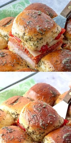 These Hot Italian Sliders will be you new favorite appetizer for any gathering. you name it, your guests will love them! food recipe videos Hot Italian Sub Sliders Tasty Videos, Food Videos, Recipe Videos, Best Sandwich Recipes, Recipe For Sandwich, Comida Diy, Football Food, Superbowl Food Ideas, Football Party Foods