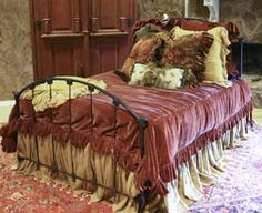 "Christi Proctor's MOON REIN line of romantic Western bedding. This is the ""Miss Kitty"" set. Be still, my heart!!!"