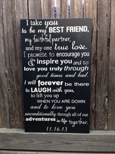 Anniversary Gifts for Men Fourth Anniversary Gift for Her Wedding Vows Anniversary Gift Wood Sign x 20 Marriage Personalized Sign Wedding Signs, Our Wedding, Dream Wedding, Gift Wedding, Trendy Wedding, Spring Wedding, Simple Wedding Vows, Wedding Vows That Make You Cry, Modern Wedding Vows