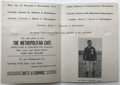 Learn the story behind this 1914 Indiana University Basketball Guide: http://assemblycall.com/iu-artifacts-1914-indiana-university-basketball-schedule-guidebook/?utm_campaign=coschedule&utm_source=pinterest&utm_medium=Assembly&utm_content=IU%20Artifacts%3A%201914%20Indiana%20University%20Basketball%20Guide%20%23iubb