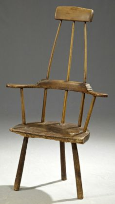Sit back, why don't you!   English Carved Oak Windsor Armchair, 17th/18th c.