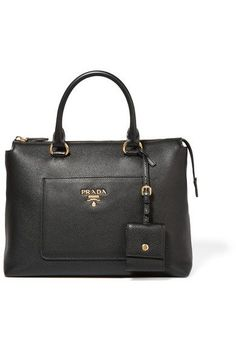 Prada - Textured-leather Tote - Black 9ab5b9708a