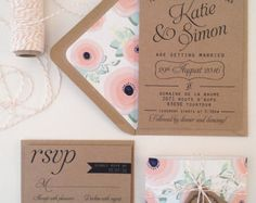 Light and natural wedding invitations
