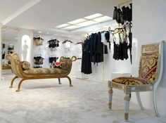 Les Folies d'Elodie, Paris Lingerie Stores, Dressing Room, Store Design, Boutiques, Wardrobe Rack, Retail, Display, Paris, Chair