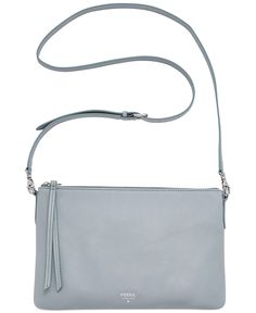 Feeling blue right now? Us, too! This smokey crossbody from Fossil will add a little luxe to your weekend look