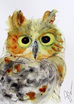 Owl Watercolor....