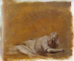 Giovanni Battista Crespi, dit le Cerano (1573-1632). Job sur le tas de fumier,  Lavis brun, rehauts de blanc sur papier - 21,8 x 25,2 cm,  Milan, Musei Civici del Castello, Cabinet des dessins.