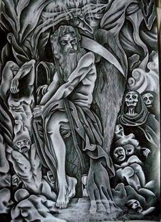 """Saatchi Art Artist Celeste Gómez; Drawing, """"EL REINO DE HADES."""" #art"""