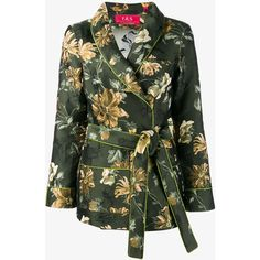 For Restless Sleepers Floral Jacquard Jacket (€670) ❤ liked on Polyvore featuring outerwear, jackets, long sleeve jacket, floral print jacket, flower print jacket, multi color jacket and floral jacket