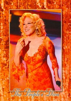 "Bette Midler.  Who could forget ""The Rose,"" or when she sang to Johnny Carson on his last TV show (at Johnny's request). Love, Love Love to hear her voice range."