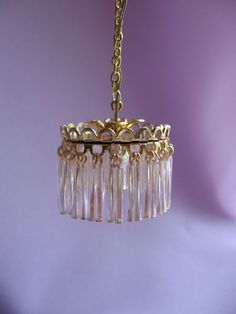 dollhouse doll house miniature ELECTRIC PETITE CRYSTAL CHANDELIER LAMP | eBay