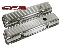Compatible/Replacement for Chevy Small Block Short Polished Aluminum Valve Covers - Ball Milled Performance Auto Parts, Chevy, Oem, Engine, Muscle, Accessories, Style, Swag, Motor Engine