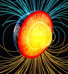 Study resolves Earth's geodynamo paradox by directly measuring thermal conductivity of iron at planetary core conditions for the first time, indicating that Earth's geodynamo has persisted since the beginning of Earth's history, and allowing for a solid i Theories About The Universe, Electric Universe, Earth's Magnetic Field, Inner Core, Earth From Space, Astrophysics, Space Exploration, Earth Science, Paradox