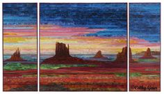 - Monument Valley Sunset, just won a ribbon in the Road to California quilt show. :)