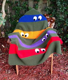 Teenage Mutant Ninja Turtle Blanket Crochet FREE Pattern