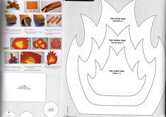 Create a simple felt campfire . Create a simple felt campfire . Sewing For Kids, Diy For Kids, Crafts For Kids, Felt Food Patterns, Stuffed Toys Patterns, Felt Diy, Felt Crafts, Fun Projects, Sewing Projects