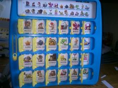 """Custom Super Mario slide-in character card for Hasbro's """"Guess Who?"""" (made by myself)"""