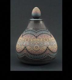 Marvin's first efforts reflected the influence of pueblo-style… Ceramic Pots, Ceramic Clay, Porcelain Ceramics, Native American Pottery, Native American Art, Pottery Vase, Ceramic Pottery, Navajo Pottery, Pottery Techniques