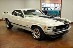 1970 Mustang White and Black (found while cruising the internet for awesome Mustangs by www.encinitasford.com)