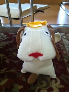 Heen the dog, from Howls Moving Castle that I made from felt