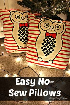 Easy No-Sew Pillows