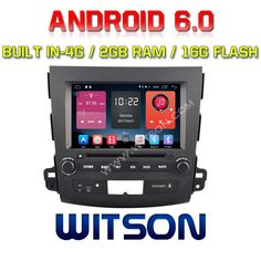 WITSON QUAD-Core Android 6.0 CAR DVD PLAYER For MITSUBISHI OUTLANDER 2G RAM BULIT IN 4G 16GB ROM
