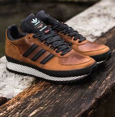 leather + black sneakers — Barbour x Adidas TS Runner
