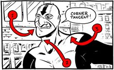 Cartoonist Chris Schweizer wrote a handy guide to spotting tangents in your artwork — those pesky spots where elements in a drawing line up in ways that can confuse or mislead a reader.
