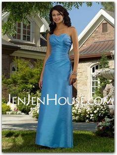 Bridesmaid Dresses - $105.99 - A-Line/Princess Sweetheart Floor-Length Taffeta Bridesmaid Dresses With Ruffle  Beading (007001045) http://jenjenhouse.com/A-line-Princess-Sweetheart-Floor-length-Taffeta-Bridesmaid-Dresses-With-Ruffle--Beading-007001045-g1045