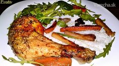 Pomaly pečené kuracie stehná na masle s bylinkami (fotorecept) - recept | Varecha.sk Turkey, Meat, Chicken, Food, Turkey Country, Essen, Meals, Yemek, Eten