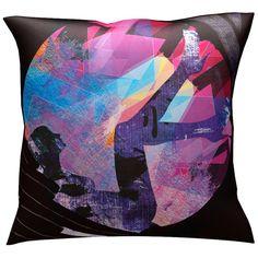 Red Noir Ms. Geometria Throw Pillow