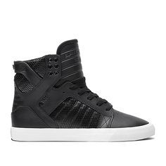 SUPRA WOMENS SKYTOP | BLACK / BLACK - WHITE | Official SUPRA Footwear Site