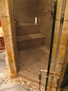 stained concrete shower | Concrete Counters & Elements