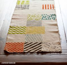 """inspired by charm reviews: """"For the Love of Pattern"""" Table Runner"""