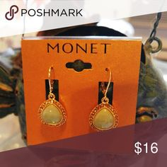 """Monet Earrings Beautiful 2"""" drop earrings with secure leverback closure from a collectible brand you can trust!  Brand new with tags🔸Same or next day ship🔸Bundle & save!  Happy Poshing!! Monet Jewelry Earrings"""