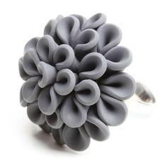 Concrete Ring Medium Gray jewelry, gray, rings