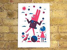 Ben Newman bunny print