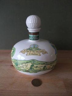 Vintage-McGibbon-s-of-Glasgow-Scotch-Whisky-The-Golfer-s-Decanter-St-Andrews