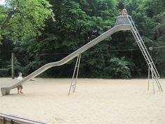"Found this by searching for ""tall metal unsafe playground slide.""  Eye roll."