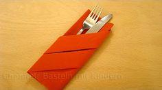 Dekoracja stołu - składanie serwetki w kieszonkę na sztućce - KOTLET.TV - YouTube