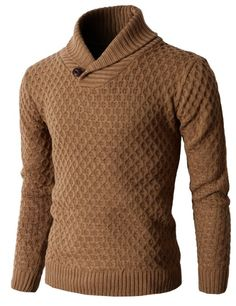 Amazon.com: H2H Men's Knit Pullover Long Sleeve Hexagon Patterned Sweater: Clothing