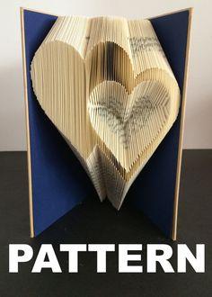 Livre pliage motif Double coeur s par BookFoldingAustralia