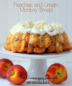 Peaches and Cream Monkey Bread...so simple and perfect for a weekend morning!