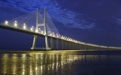 Vasco da Gama Bridge  Lisboa Portugal