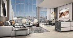Luxury penthouses - How to Find a Luxury penthouse Luxury Penthouse, Luxury Apartments, Luxury Homes, Apartment Interior, Apartment Design, Living Room Interior, Contemporary Interior Design, Modern Interior, Living Room Modern